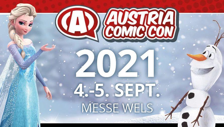 Programmplan der Austria Comic Con 2021 vom 4. bis 5. September online